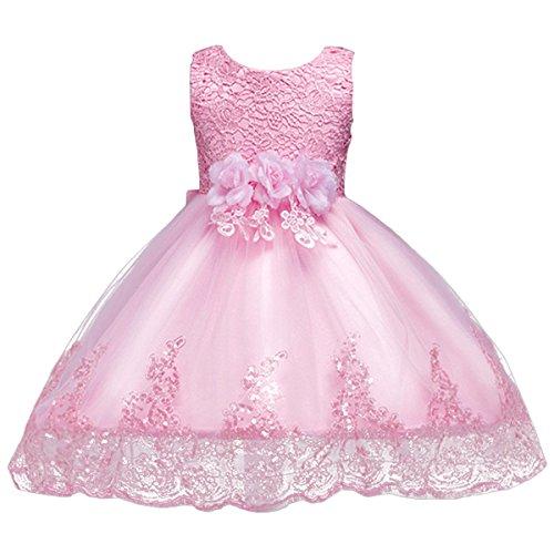 Highdas Baby M/ädchen Prinzessin Kleid mit Bowknot Baby M/ädchenkleid f/ür Festzug Kommunion Party Geburtstag Prinzessin Kleid