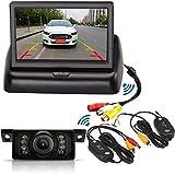 Système de caméra de recul sans Fil 10,9cm TFT LCD Pliable Moniteur de Voiture avec 7LED IR étanche Vision de Nuit Caméra de recul de stationnement