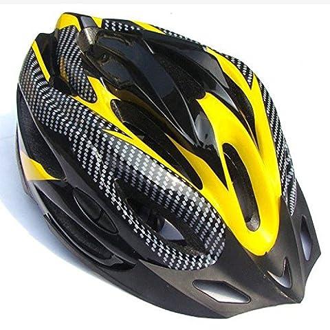 Adult Cycle Helmet Street Gebirg Esfahr Wheel Ladies and Gents Cycling Safety Adult Helmet (58-61cm) Yellow yellow