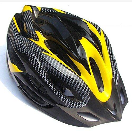 Fahrradhelm für Erwachsene Strasse Gebirgesfahrradhelm Damen und Herren Radfahren Sicherheit Erwachsenen Helm(58-61 CM) in Yellow