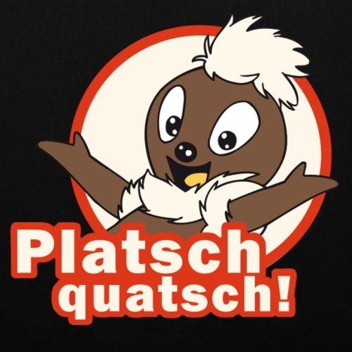 Spreadshirt Sandmännchen Pittiplatsch Platsch Quatsch Stoffbeutel Schwarz