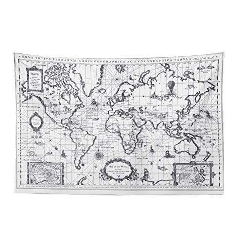 Amerika Wandteppiche (XIETAPESTRY Karte Hängen Ins Europa Und Amerika Schwarz Und Weiß Farbe Weltkarte Wanddekoration Hintergrund Schlafzimmer Studie Tapisserie (Color : Black and White map 200 * 120cm))
