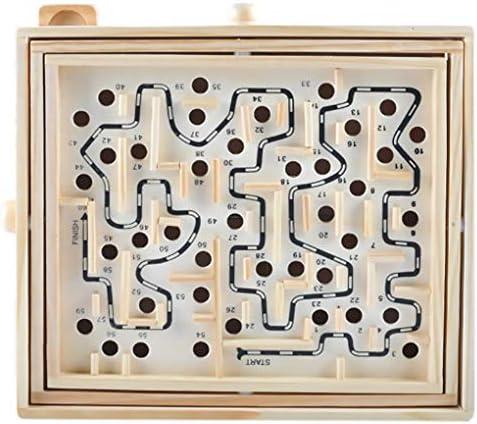Aiming Bouton Rotatif Conseil Labyrinthe en en en Bois Jeu de Balle Maze Puzzle Handcrafted Jouets pour  s Jouets éducatifs Perles roulants | être Dans L'utilisation  cbe63b