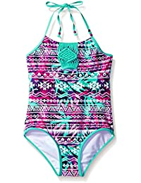 LiMiTeD Too Girls' Tropical Aztec Stripe 1pc Swim