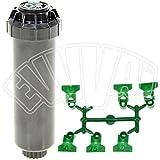 Hunter 44009Irrigatore emergente SRM-04, 10cm, arco regolabile, colore: nero/verde