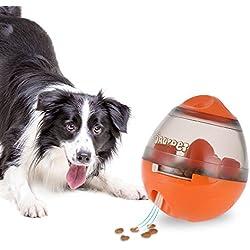Juguetes para Perros, Dadypet Mascotas Perros Accesorios Pelota Dispensadora de Comida Fácil de limpiar (Naranja)