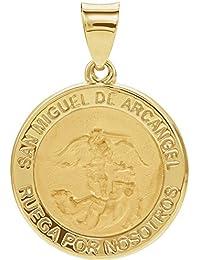 a497e9b701b Colgante con medalla de San Miguel en oro amarillo de 14 quilates