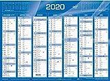 QUO VADIS - 1 Calendrier de Banque Bleu - Année 2020 - 55x40,5 cm carton rigide...