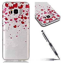 Custodia Cover Samsung Galaxy S8 Plus Transparente Samsung Galaxy S8 Plus Case, JAWSEU Creativo Disegno Antiurto…