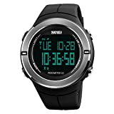 Herren Digitale Sportuhr Schrittzähler Stoppuhr Countdown LED Wasserdicht Militär Armbanduhr für Herren