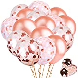 52PCS oro rosa paillettes Balloons Decorations set -10pcs coriandoli palloncini 10PCS paillettes palloncini palloncini in latex 30Pcs 2PCS bobina nastri per ringraziamento Natale anniversari