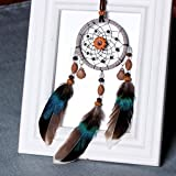 TAOtTAO Handgemachte Spitze Dream Catcher Feather Bead hängende Dekoration Ornament Geschenk