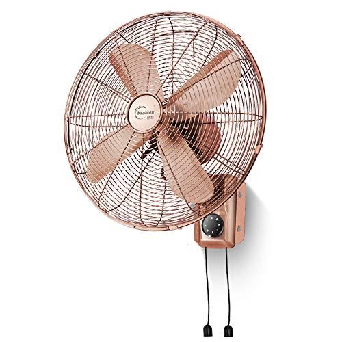 Ventilador eléctrico Ventilador de Pared Retro, Ventilador de Pared mecánico/Control Remoto...