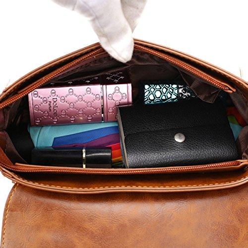 Frauen Mode Quaste Zubehör PU-Dame-Schulter-Handtaschen-Taschen-Geldbeutel Black