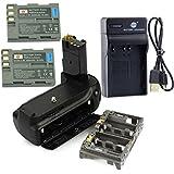 DSTE MB-D80 Poignée Batterie + 2x EN-EL3E Batterie + USB Chargeur pour Nikon D80 D90