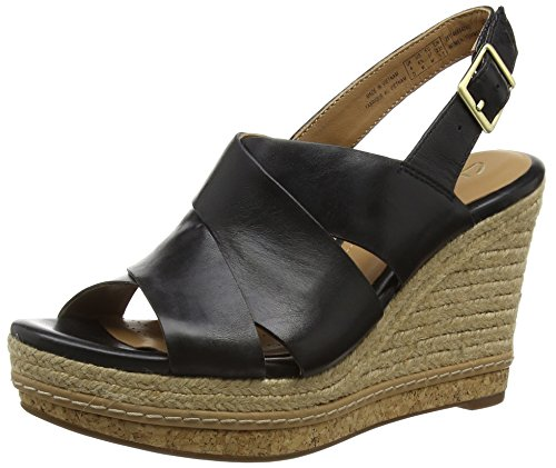 Clarks Amelia Dally, Damen Slingback Sandalen, Schwarz (Black Leather), 40 EU (6.5 Damen UK)
