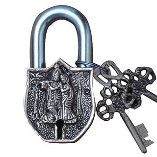 Radha Krishna Pad Lock of Brass by Aakrati