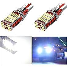 ruecious 921912W16W T15T1045smd chipsets bombillas LED Canbus Libre De Errores de copia de seguridad Reverse luces 1000lúmenes 6000K Xenon Blanco 2Piezas