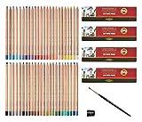 KOH - I - NOOR Lot de 48 crayons pastel Gioconda avec taille-crayon et une brosse pastel