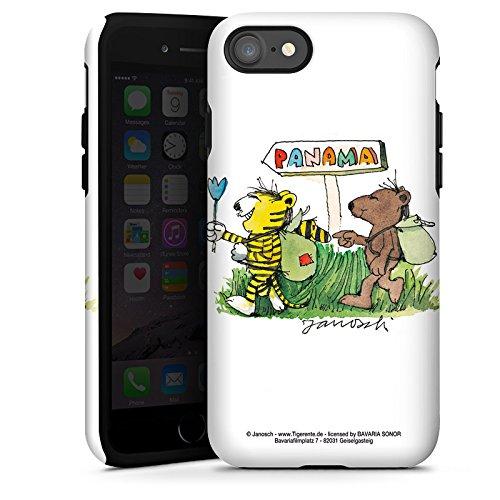 Apple iPhone X Silikon Hülle Case Schutzhülle Janosch Fanartikel Merchandise Panama Tough Case glänzend