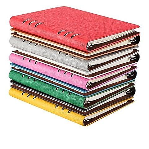 A5 Geschäfts-Leder-Notebook Spiral Tagesplaner Organizer 5 Farbe, 19 * 13 CM
