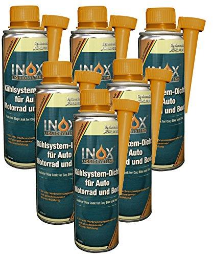 INOX Kühlsystem-Dicht Additiv, 6 x 250ml - Kühlerdichtmittel mit allen Kühlmitteln mischbar