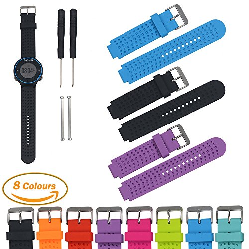 garmin-forerunner-series-smart-watch-replacement-bandspack-of-3-ifeeker-air-hole-style-soft-silicone