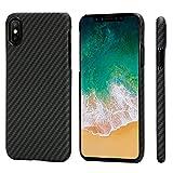 iPhone X Hülle, PITAKA Aramidfaser[Kugelsicheres Material] Handyhülle, ultra dünn(0,65mm) Super...