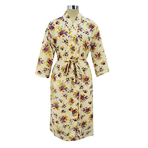 Lange Robe Blumendruck -Brautjungfern -Geschenk Hochzeit Bevorzugungen Kimono Crossover Robe Lila
