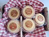 Präsentkorb, Geschenkkorb mit Senf, Senfkorb, Delikatesskorb Korb mit 5 verschiedenen Senfen in Tontöpfchen