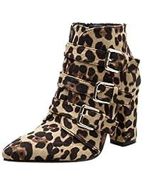 4c7fe2a3 Amazon.es: botas altas tacon - Blanco / Zapatos: Zapatos y complementos