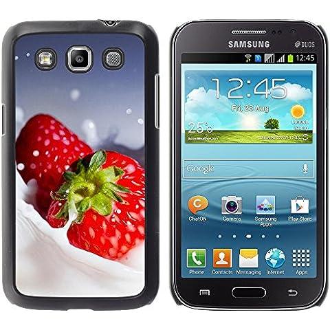 TORNADOCOVER Unico Immagine Rigida Custodia Case Cover Protezione Per SMARTPHONE Samsung Galaxy Win I8550 I8552 Grand Quattro - macro frutta cremoso fragole - Cremoso Fragola