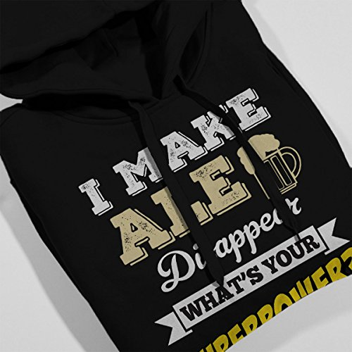 I Make Ale Disappear Whats Your Superpower Men's Hooded Sweatshirt Black