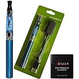 Salcar® Kit de iniciación de Cigarrillo Electrónico eGo-T CE4, Vaporizador de 1,6ml, batería recargable de 1100mAh, 0,00 mg Nicotina (Azul )