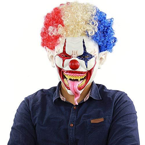 Kostüm Gruselige Billig Wirklich - Leezo Erwachsene Halloween Cosplay Gesichtsmaske Realistische Horror Gummi Zombie Clown Esel Kostüm Party Supplies