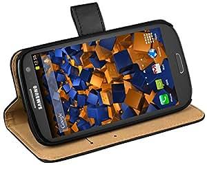 mumbi Ledertasche im Bookstyle für Samsung Galaxy S3 i9300 / S3 Neo Tasche schwarz