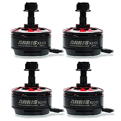 ARRIS X2205 2300KV High Efficiency 2-4S Brushless Motor for Racing Drones(4 PCS)