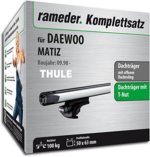 Rameder Komplettsatz, Dachträger SlideBar für Daewoo MATIZ (114977-03890-61)