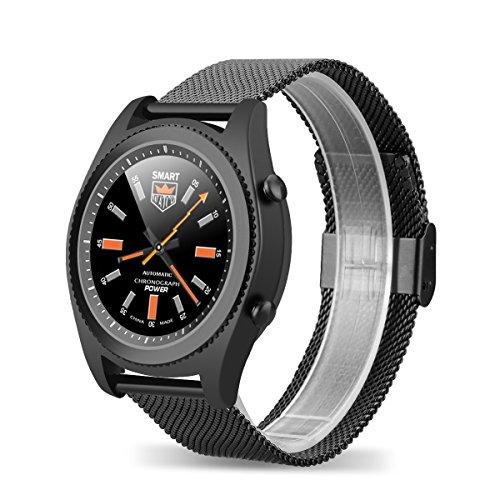 NO1-S9-Smartwatch-mit-Herzfrequenz-Sensor-Stahl-Uhr-Bluetooth40-Armbanduhr-NFC-Bluetooth-Telefon-Pulsmesser-Aktivittstracker-Schrittzhler-Schlafanalyse-Kalorienzhler-fr-ios-Android