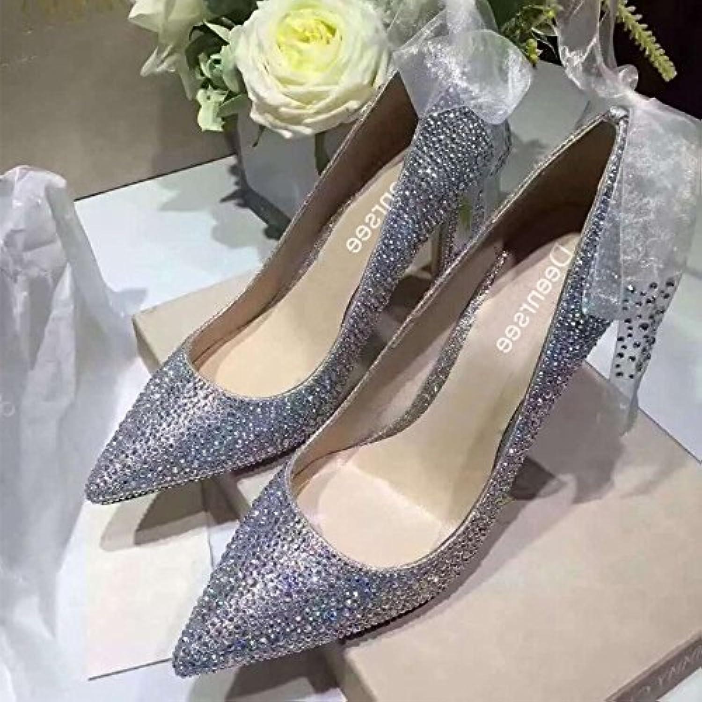 Xue Qiqi Scarpette Scarpe da sposa sposa sposa scarpe da sposa strass donna principessa nozze scarpe da sposa di cristallo... | marchio  | Uomini/Donna Scarpa  66d3b7