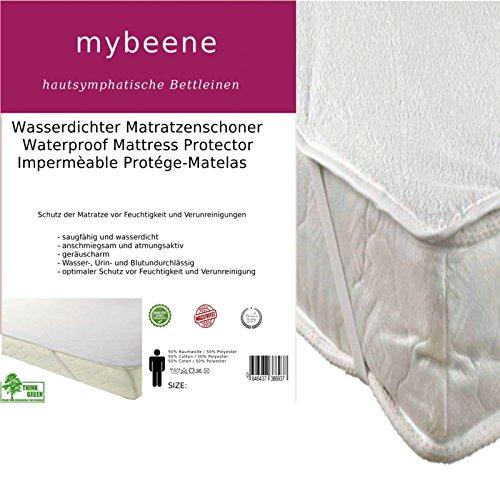 mybeene wasserdichter Matratzenschoner 160x200 cm | mit 4 Eckgummis | Frottee | atmungsaktiv | trocknergeeignet | Unter-Bett | Matratzen-Auflage | Schonbezug (Bett-matratzen)