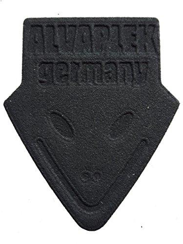 Plektrum - Alvaplek 3D germany schwarz - Weltweit erstes kommerzielles Rabbit 3D Print Plektrum. Aus nachhaltigem Nylon PA12 - Absolute Premium Qualität. Erzeugt angenehm brillantes Klangbild. (Klassische Print Stärken)