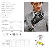 Harrms Herren Winter Lederhandschuhe aus Echtem Leder Touch Screen Gefüttert aus Kaschmir,Braun - 4