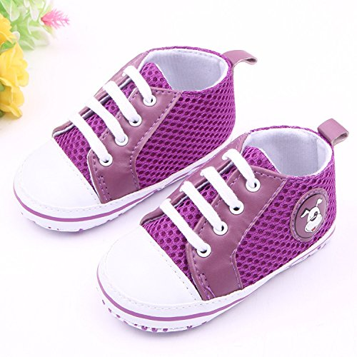 Bigood Chaussure Bébé Garçon Fille Maille Chaussures Respirant Sport Violet