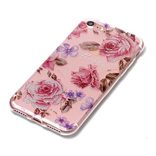 Apple iPhone 7 / iPhone 8 Hülle, SATURCASE Schönes Muster Bling Ultra Dünn Weich TPU Gel Silikon Schützend Zurück Case Cover Handy Tasche Schutzhülle Handyhülle Hülle für Apple iPhone 7 / iPhone 8 (Mu Muster-8