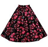 Search : YuanDian Women 1950s A Line Pleated Skirt Floral Vintage Full Circle Knee Length Inspired High Waisted Swing Midi Skirts Plus Size