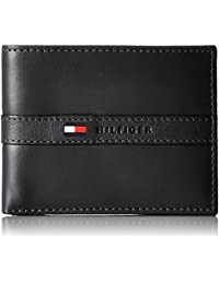 Tommy Hilfiger Men's Leather Ranger Passcase Billfold Wallet
