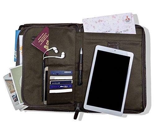 Leder Dokumententasche Dokumentenmappe Personal Organizer Schreibmappe Hülle Apple MacBook-Air 13