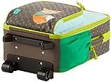 Lässig Trolley Kindertrolley stabil Reisegepäck Kinder Reisekoffer Koffer mit Packriemen, 2-stufig höhenverstellbarem Griff, Reißverschlussfach, vorne separater Schuh-/Wäschebeutel, Little Tree Fox - 4