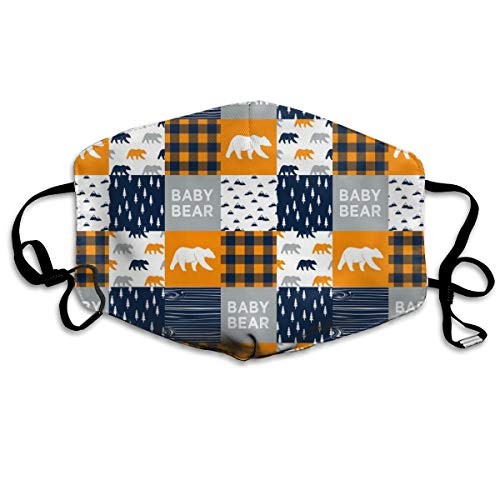 3 Scale - Baby Bear Patchwork Quilt Top The Great Outdoors Collection Anti Dust Mask Anti Pollution Washable Reusable Mouth Masks -
